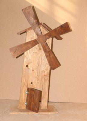 دکور اتلیه کودک اسیاب بادی چوبی