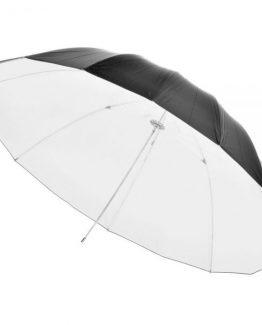 چتر بازتابی سفید-مشکی عکاسی