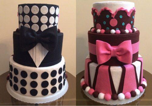 کیک سه طبقه دوطرفه توپک