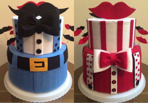 دکور کیک دو طبقه