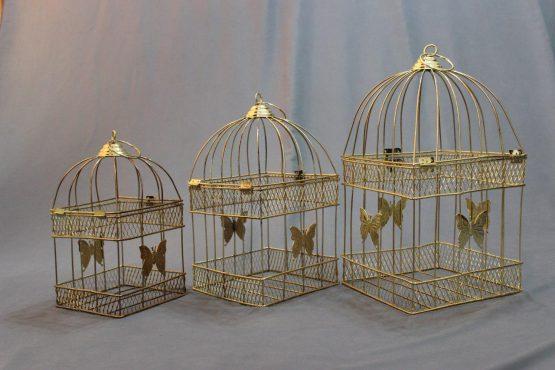 قفس چهارگوش معمولی طلایی