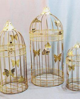 دکور ست قفس گرد معمولی طلایی